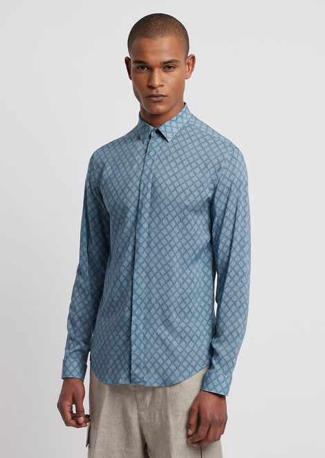 Shirt in printed viscose