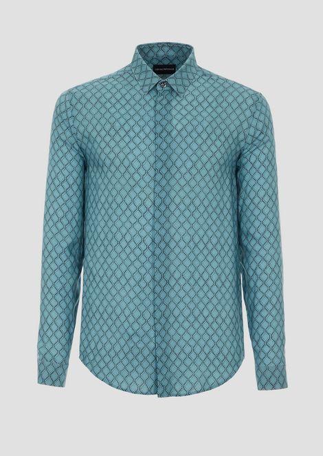 Shirt in printed viscose