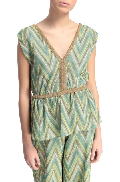 M MISSONI Top Verde acido Donna - Fronte