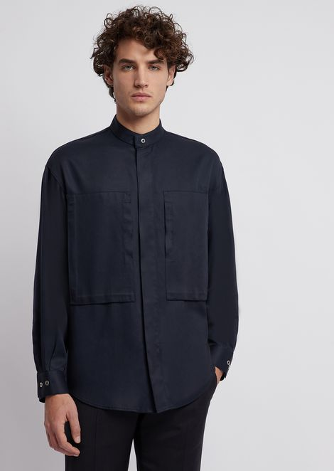 Shirt in tencel twill
