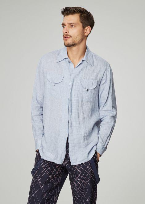 GIORGIO ARMANI Casual Shirt Man f
