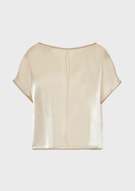 Top in organza liquida