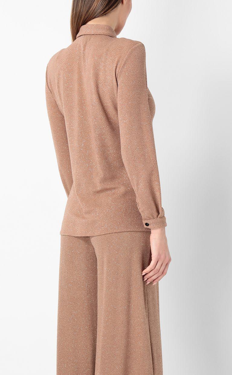 JUST CAVALLI Shirt in lurex Long sleeve shirt Woman a