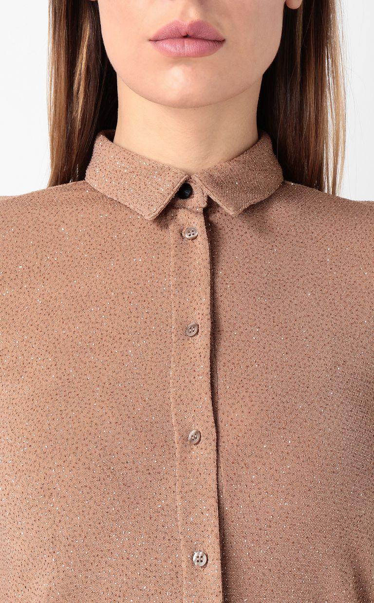 JUST CAVALLI Shirt in lurex Long sleeve shirt Woman e