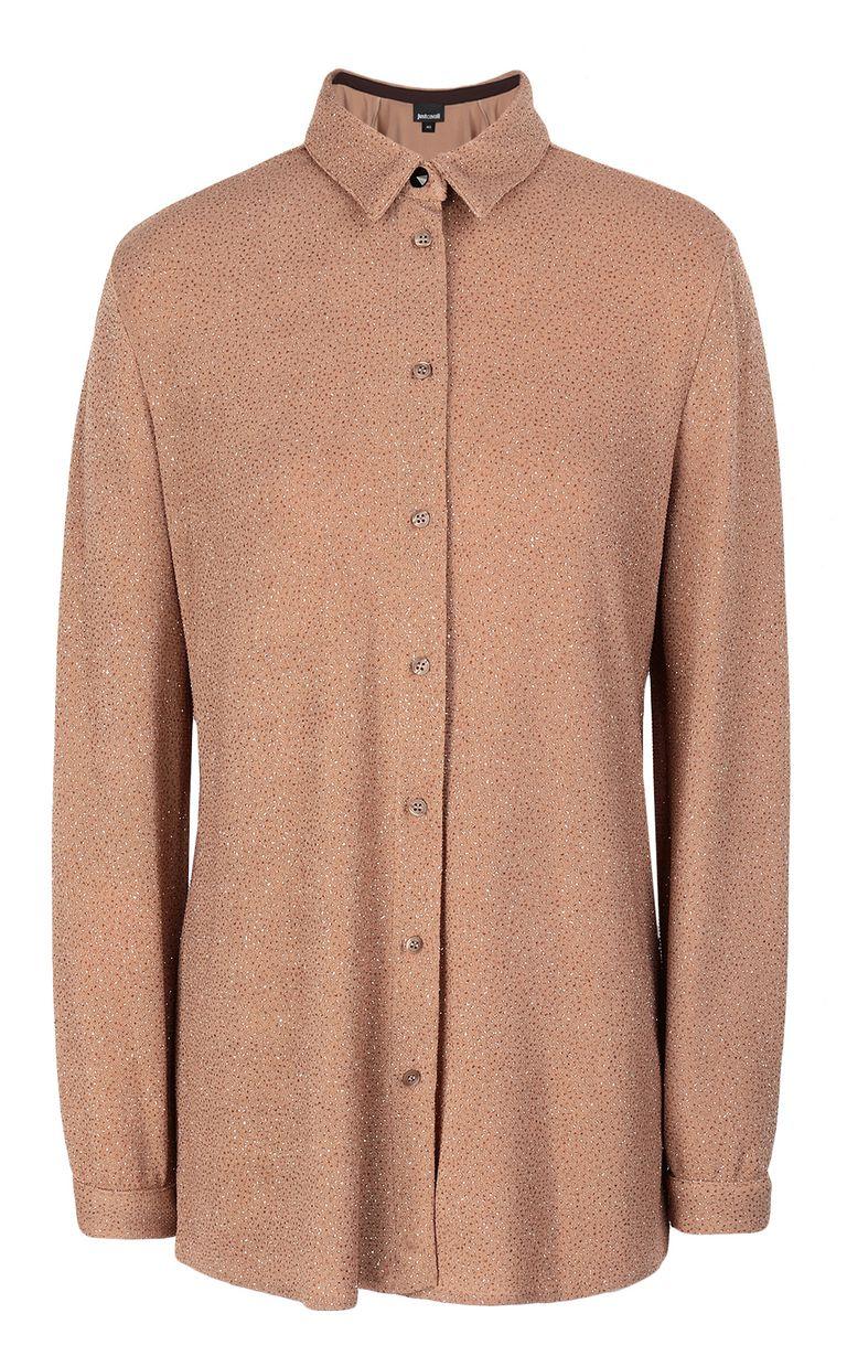 JUST CAVALLI Shirt in lurex Long sleeve shirt Woman f