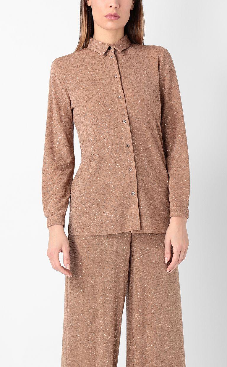 JUST CAVALLI Shirt in lurex Long sleeve shirt Woman r