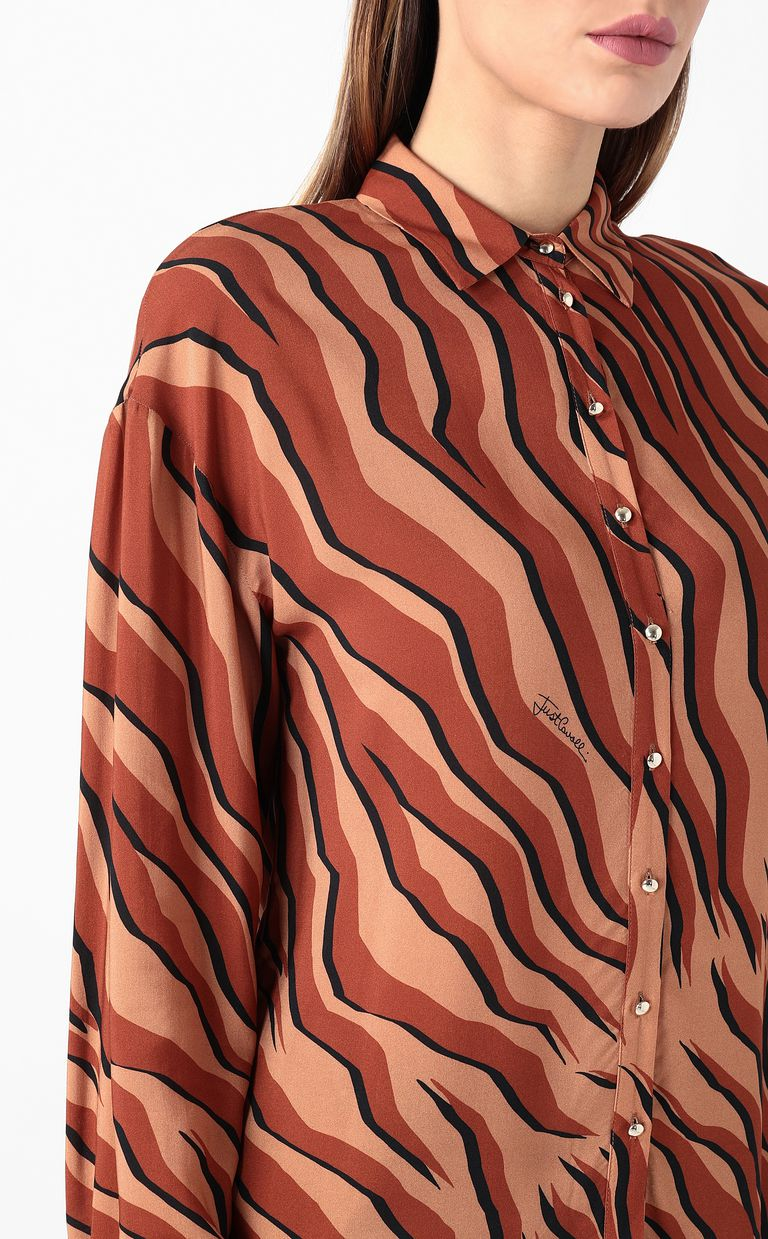 "JUST CAVALLI ""Glowing Zebra"" print shirt Long sleeve shirt Woman e"