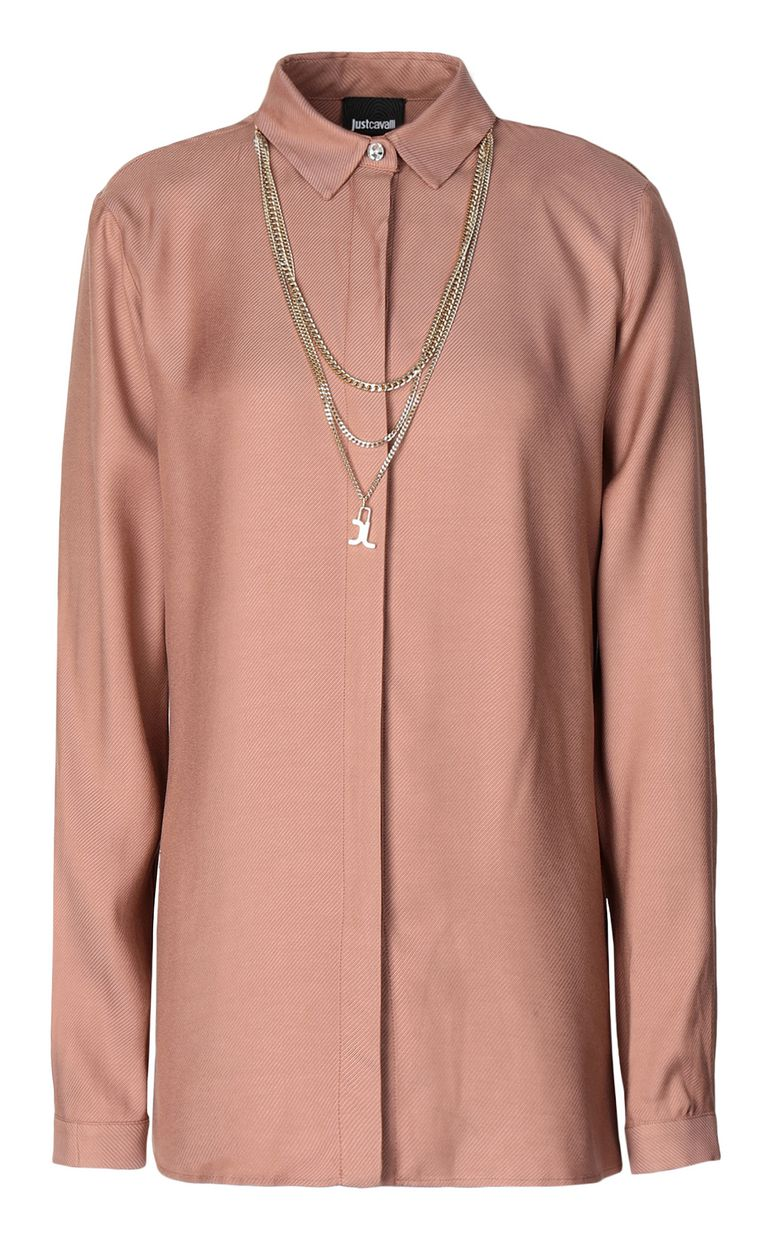 JUST CAVALLI Shirt with chain detail Long sleeve shirt Woman f