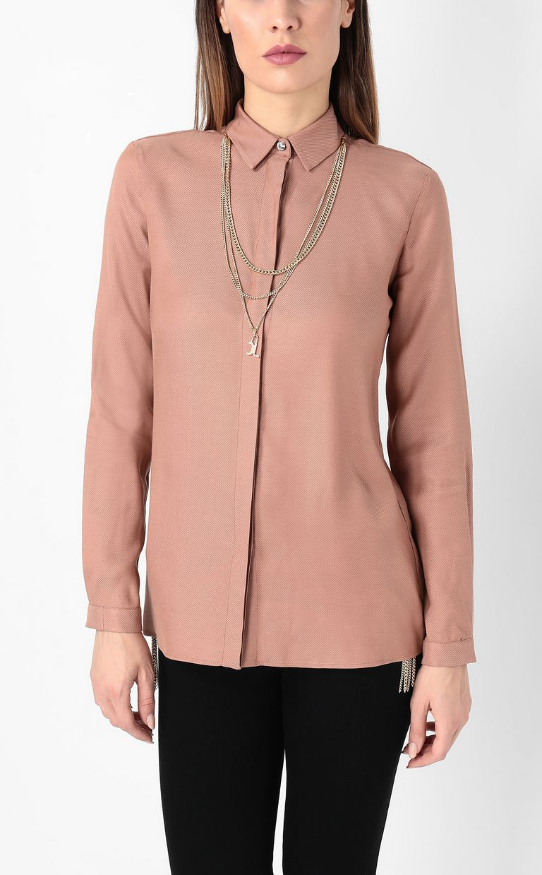 JUST CAVALLI Shirt with chain detail Long sleeve shirt Woman r