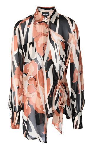 "JUST CAVALLI Long sleeve shirt Woman ""Jungle-Deco'""-print shirt f"