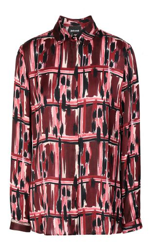 "JUST CAVALLI Long sleeve shirt Woman ""Wild-Tartan"" print shirt f"