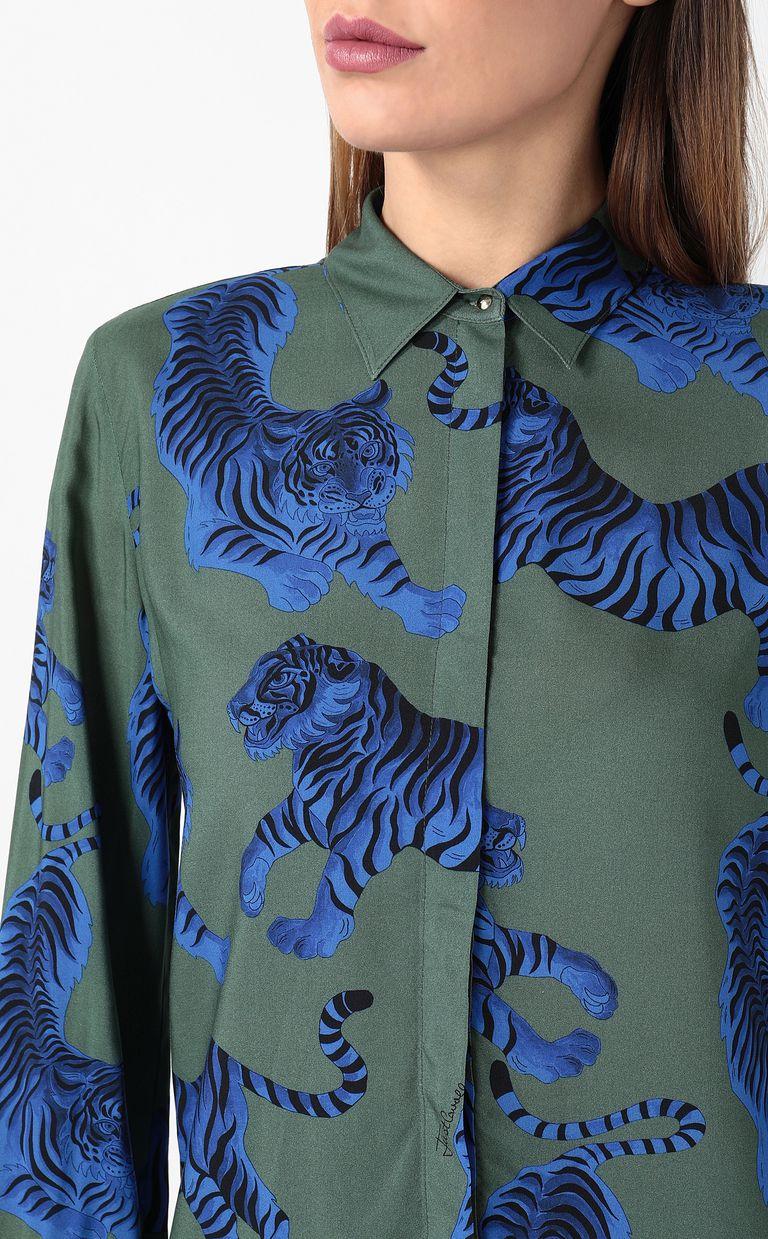 "JUST CAVALLI ""Chasing-Tiger"" print shirt Long sleeve shirt Woman e"