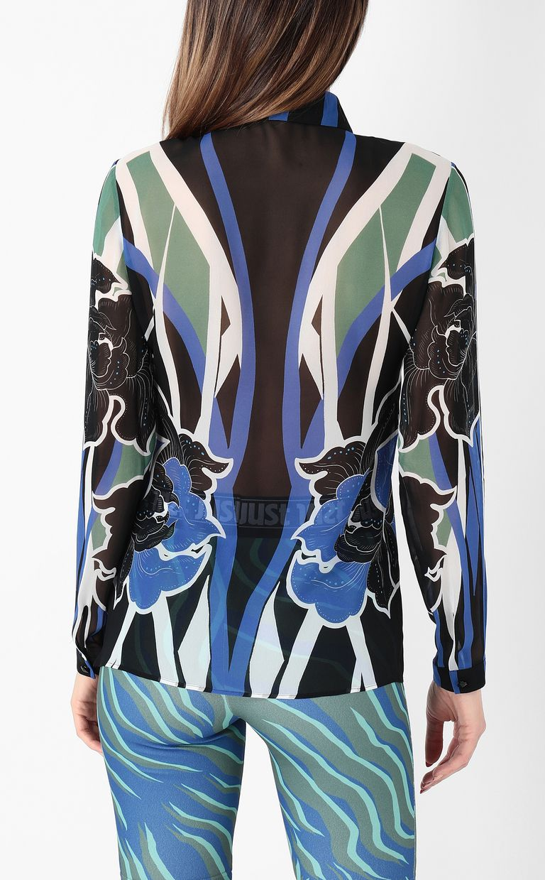 JUST CAVALLI Shirt with floral print Long sleeve shirt Woman a