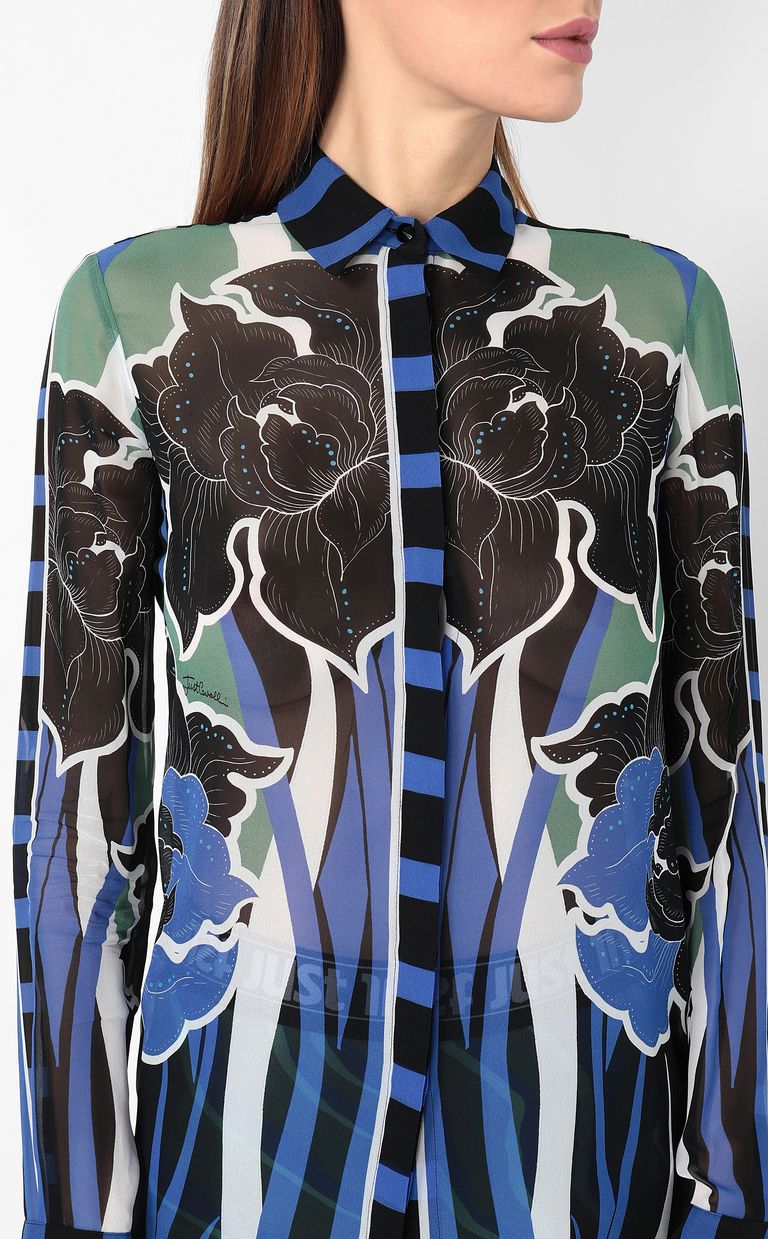 JUST CAVALLI Shirt with floral print Long sleeve shirt Woman e