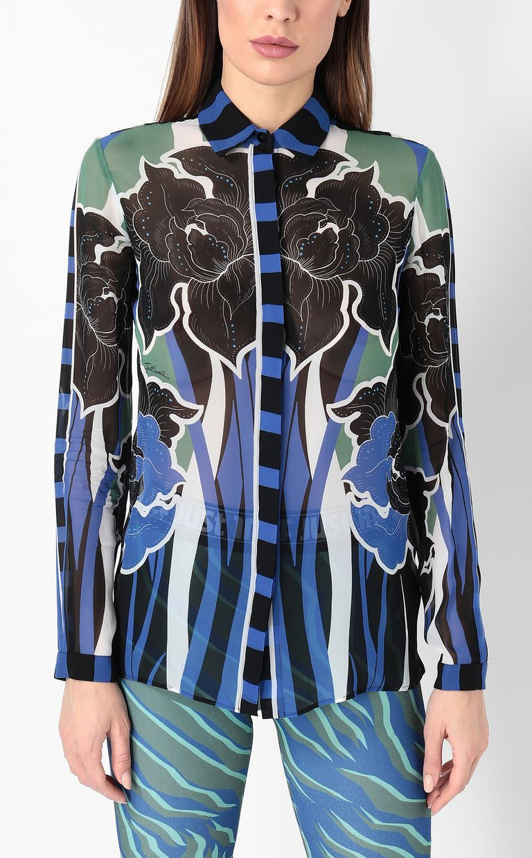JUST CAVALLI Shirt with floral print Long sleeve shirt Woman r