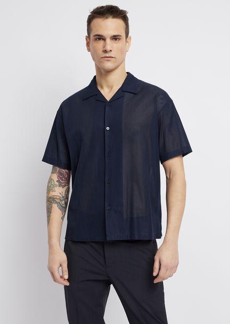 Camisa de manga corta de gasa de algodón