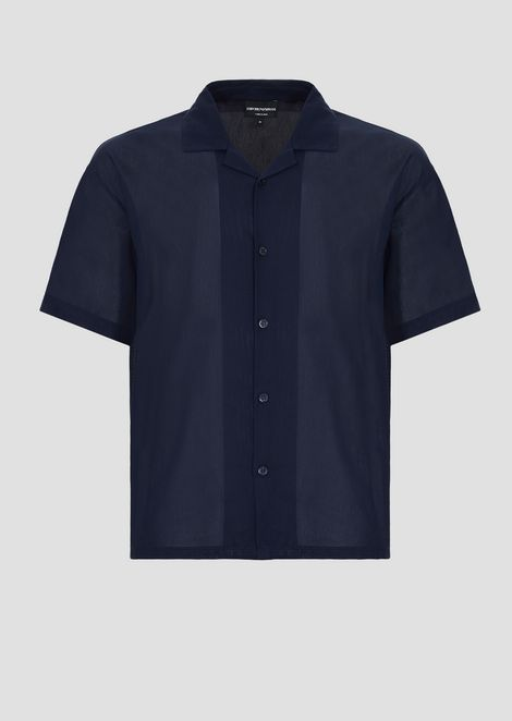 Рубашка из тонкого хлопка скороткими рукавами