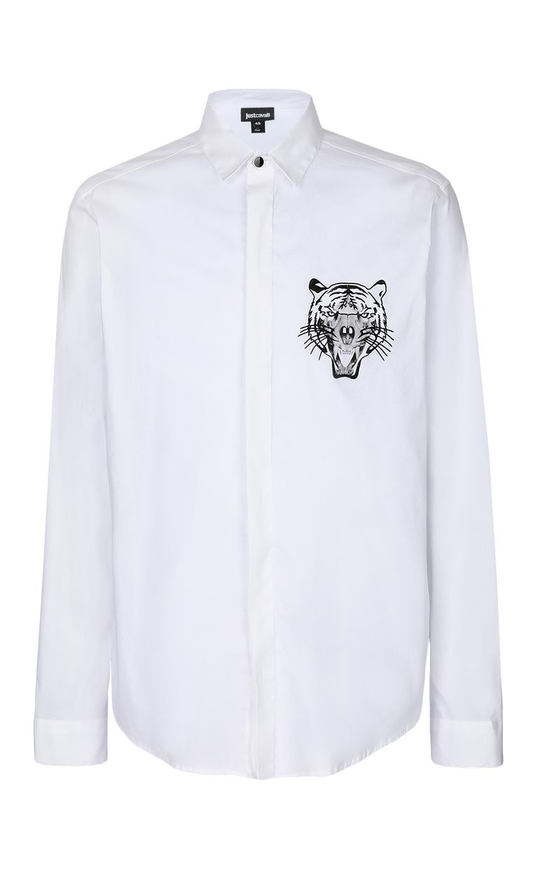 JUST CAVALLI Shirt with tiger Long sleeve shirt Man f