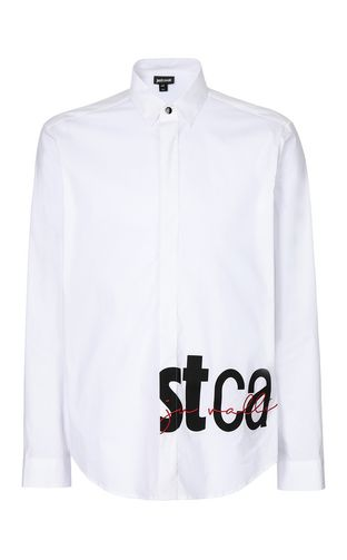 JUST CAVALLI Long sleeve shirt Man Shirt with STCA logo f