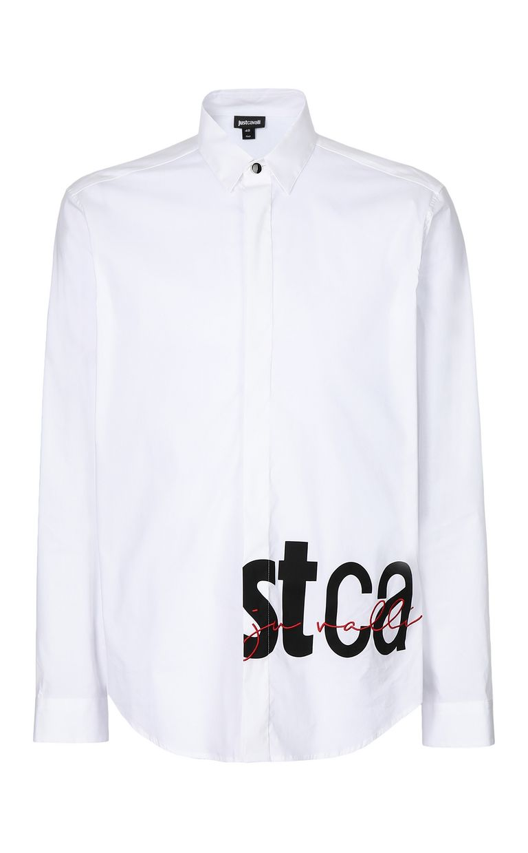 JUST CAVALLI Shirt with STCA logo Long sleeve shirt Man f