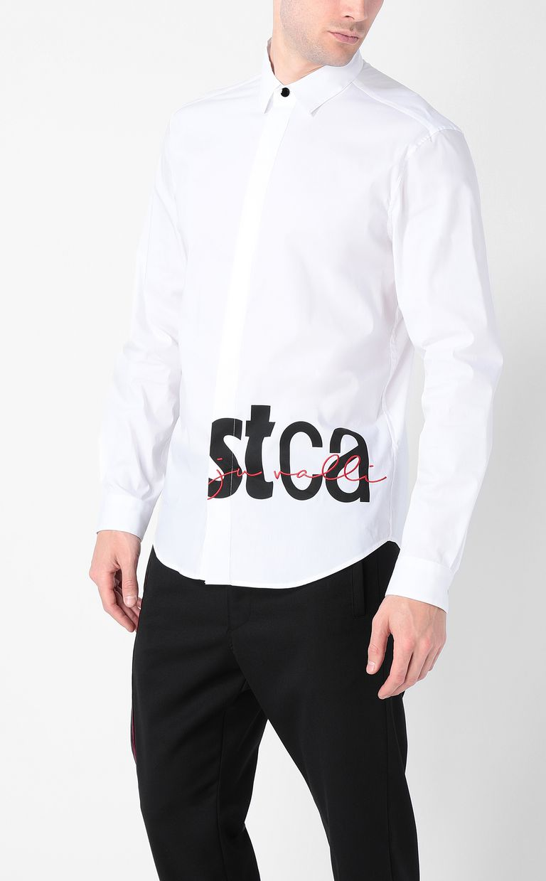 JUST CAVALLI Shirt with STCA logo Long sleeve shirt Man r