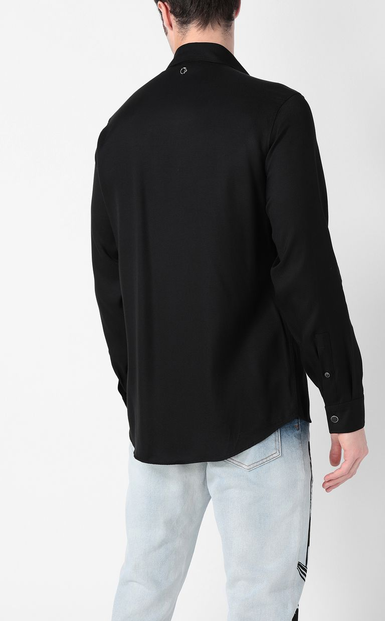JUST CAVALLI Shirt with chain detail Long sleeve shirt Man a