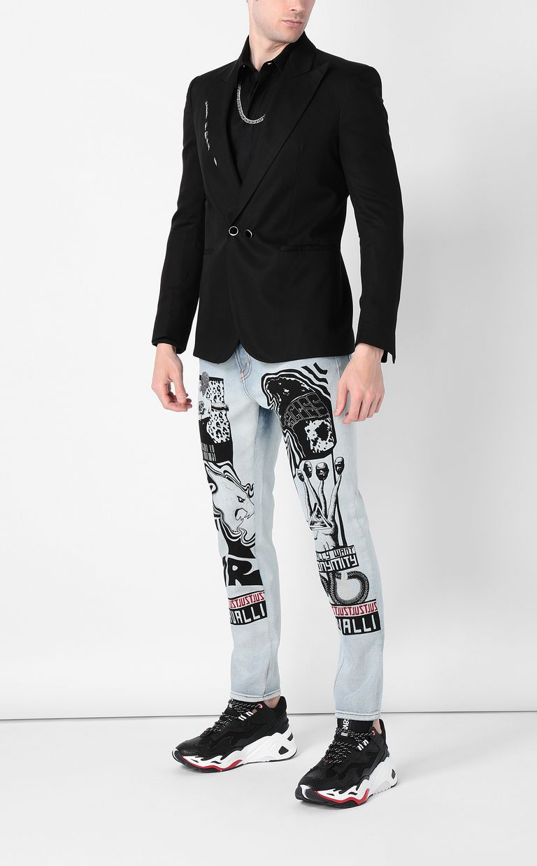 JUST CAVALLI Shirt with chain detail Long sleeve shirt Man d