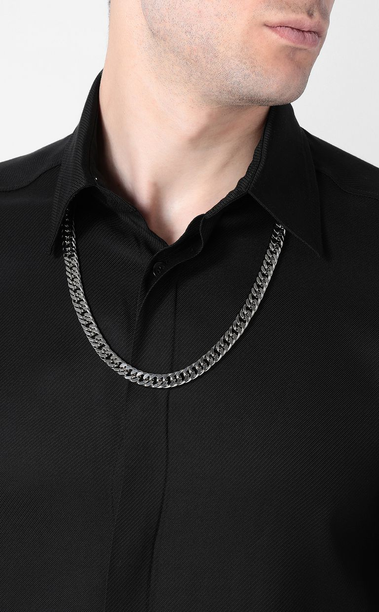 JUST CAVALLI Shirt with chain detail Long sleeve shirt Man e