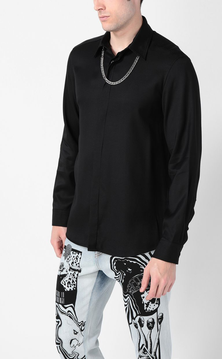 JUST CAVALLI Shirt with chain detail Long sleeve shirt Man r