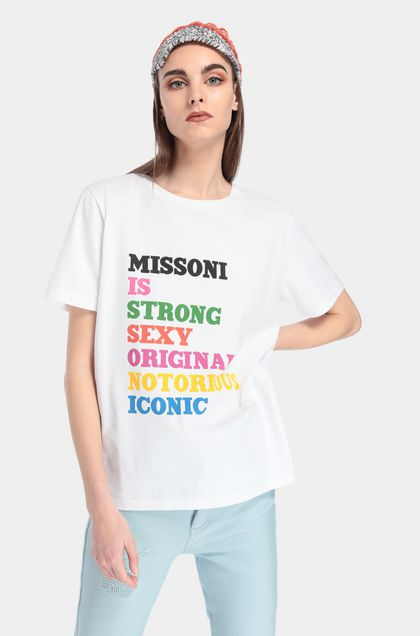 MISSONI T-shirt Bianco Donna - Fronte