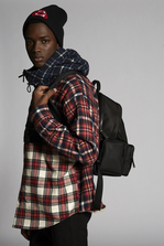 DSQUARED2 Mixed Checks Fleece Lined Hooded Pullover Shirt Shirt Man