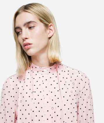 KARL LAGERFELD K/DOTS PLEATED BLOUSE