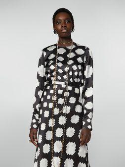 Marni Crewneck shirt in satin Otti print Woman