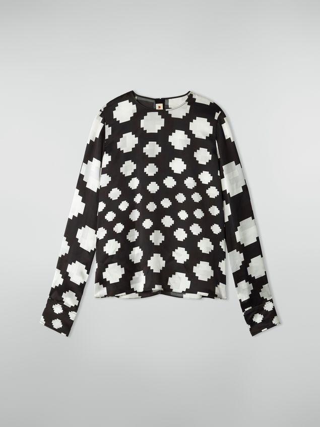 Marni Crewneck shirt in satin Otti print Woman - 2