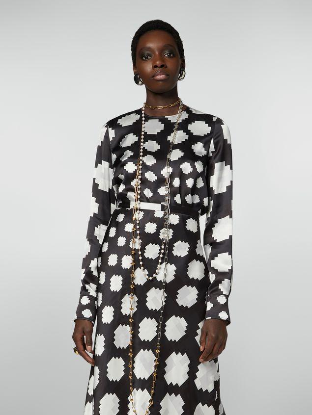 Marni Crewneck shirt in satin Otti print Woman - 1