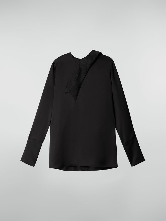Marni Shirt in shiny satin with detached collar Woman - 2