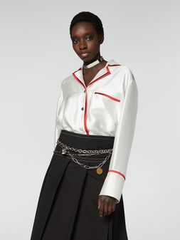 Marni Shirt in double twill with contrast profile Woman