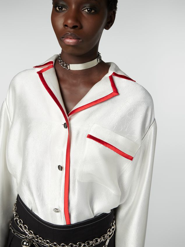 Marni Shirt in double twill with contrast profile Woman - 4