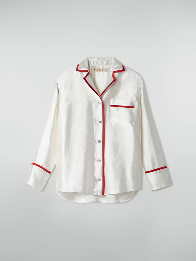 Marni Shirt in double twill with contrast profile Woman - 2