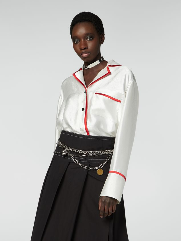 Marni Shirt in double twill with contrast profile Woman - 1