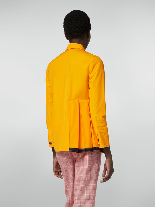 Marni Pleated shirt in cotton poplin Woman