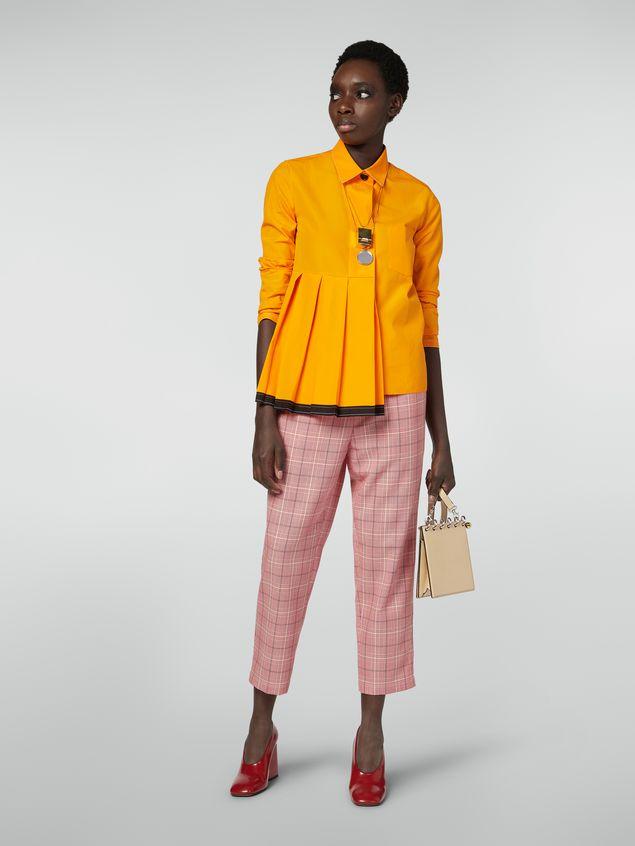 Marni Pleated shirt in cotton poplin Woman - 5