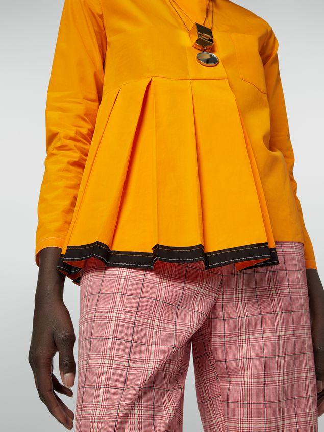 Marni Pleated shirt in cotton poplin Woman - 4