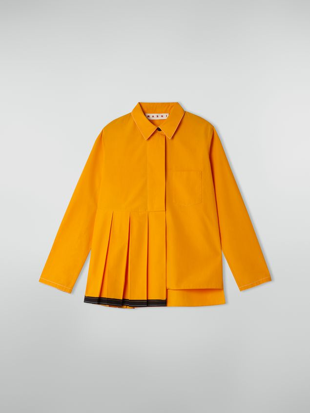 Marni Pleated shirt in cotton poplin Woman - 2