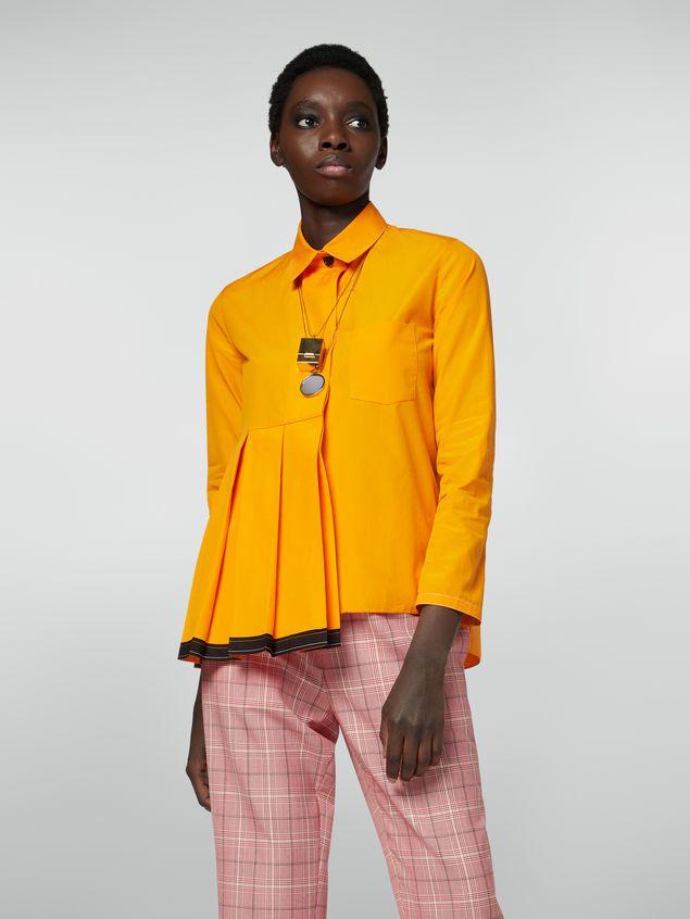 Marni Pleated shirt in cotton poplin Woman - 1