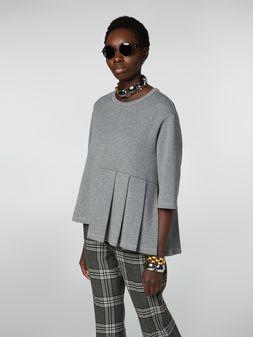 Marni Crewneck sweatshirt in double wool jersey Woman