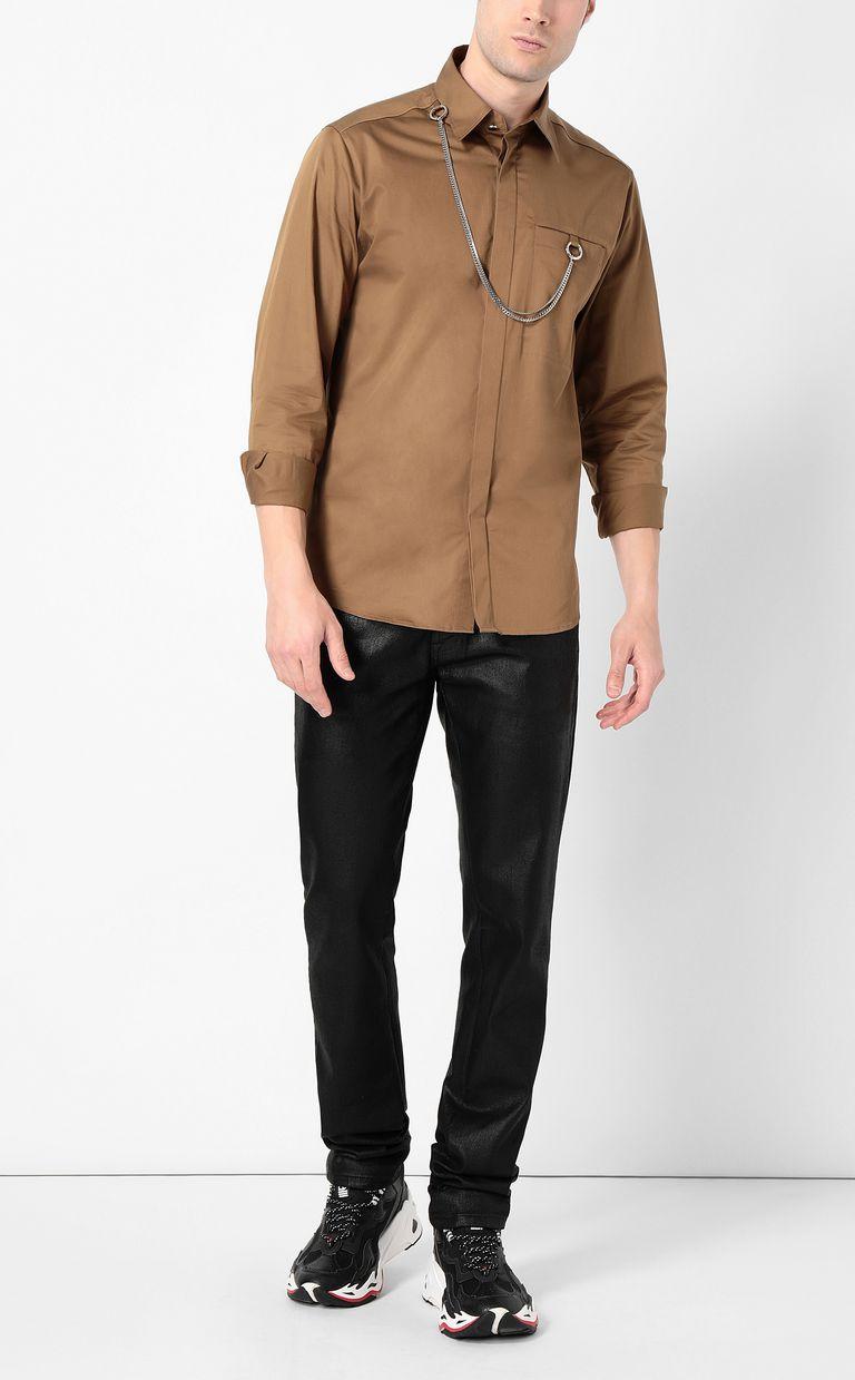 JUST CAVALLI Shirt with chain detail Long sleeve shirt Man d