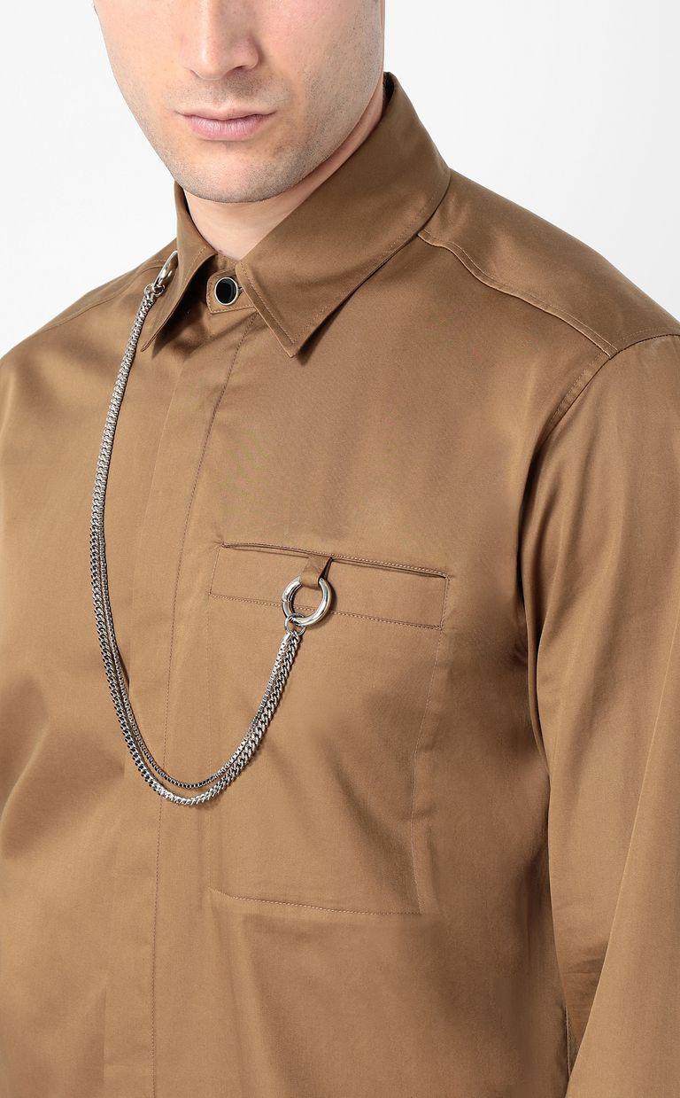 JUST CAVALLI Shirt with chain detail Long sleeve shirt Man e