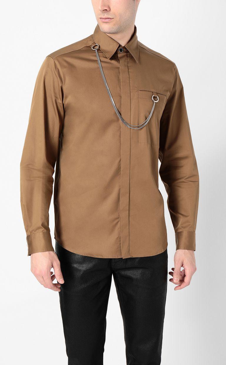 JUST CAVALLI Shirt with chain detail Long sleeve shirt Man r