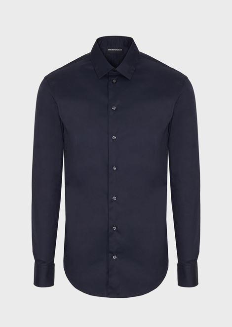 Shirt in micro-textured fabric